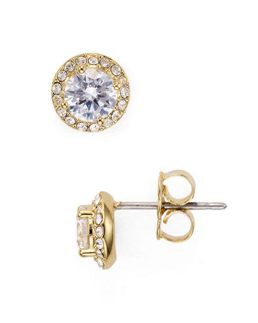 Nadri - Metallic Miss Stud Earrings - Lyst