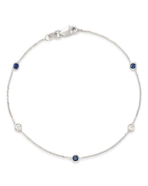 Bloomingdale's - Multicolor Blue Sapphire & Diamond Station Bracelet In 14k White Gold - Lyst