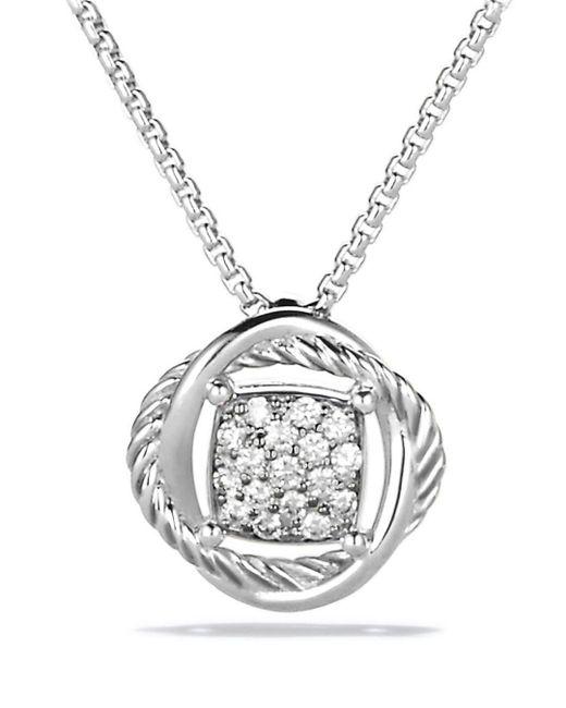 David Yurman - Metallic Infinity Pendant With Diamonds On Chain - Lyst