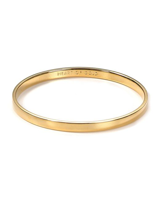 Kate Spade - Metallic Idiom Heart Of Gold Bangle - Lyst