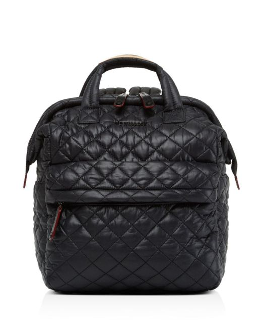 MZ Wallace Black Small Top Handle Backpack