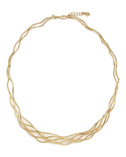 Bloomingdale's - Metallic 14k Yellow Gold Wave Wire Collar Necklace - Lyst