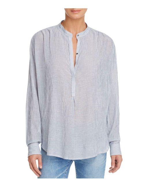 AG Jeans | Blue Audryn Mandarin-collar Tunic | Lyst