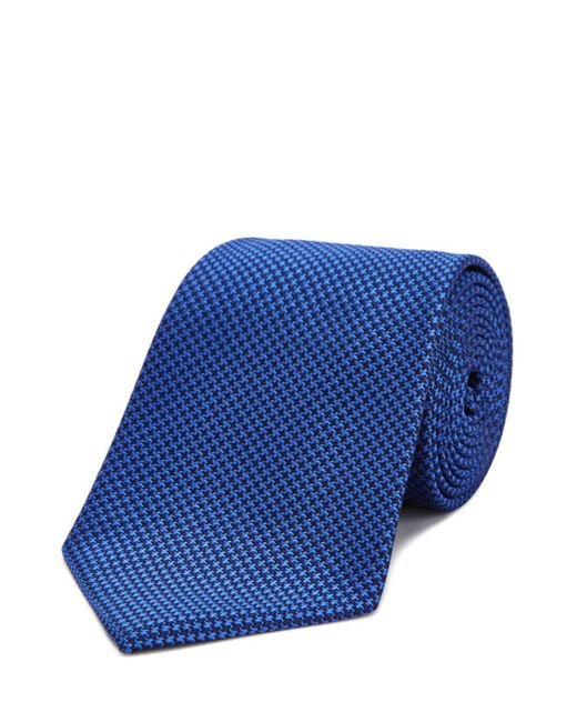 Turnbull & Asser - Blue Houndstooth Classic Tie for Men - Lyst