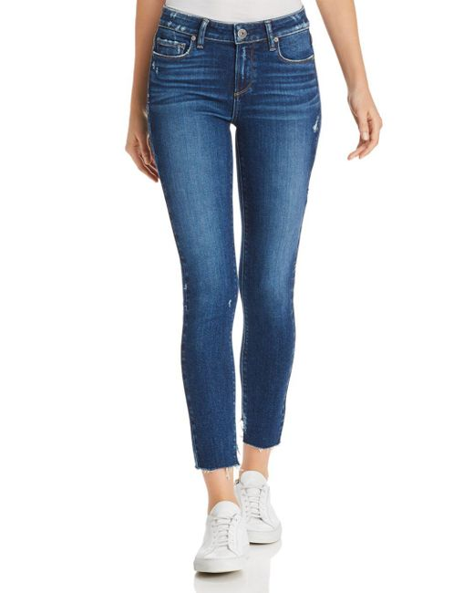 PAIGE - Blue Verdugo Ankle Skinny Jeans In Braelynn - Lyst