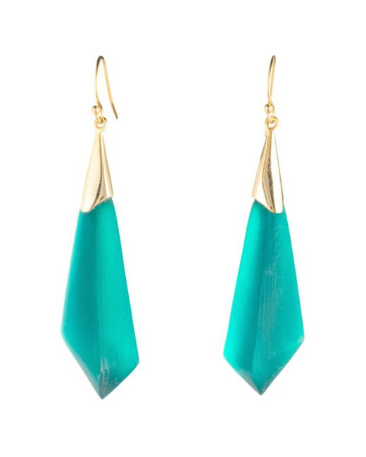 Alexis Bittar - Blue Faceted Wire Earrings - Lyst