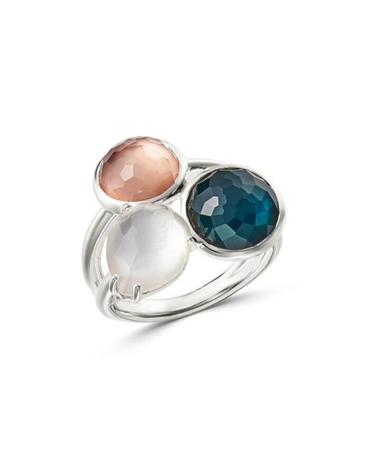 Ippolita - Metallic Sterling Silver Wonderland Mother - Of - Pearl Doublet Ring - Lyst