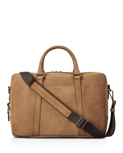 Shinola - Brown Outrigger Leather Slim Briefcase for Men - Lyst