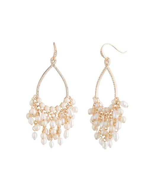 Carolee - Metallic Gypsy Cultured Freshwater Pearl Cluster Drop Earrings - Lyst