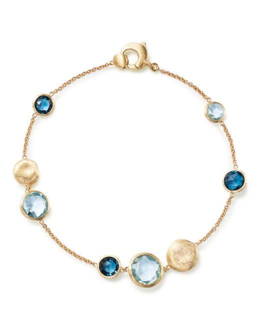 Marco Bicego - 18k Yellow Gold Jaipur Mixed Blue Topaz Bracelet - Lyst