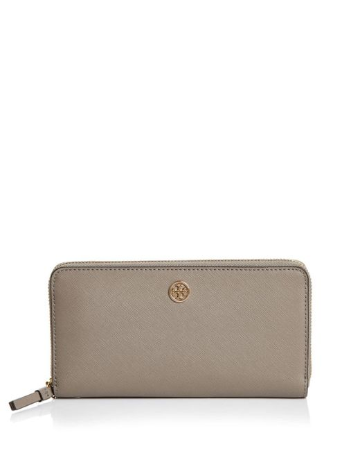 Tory Burch - Red Robinson Zip Leather Continental Wallet - Lyst