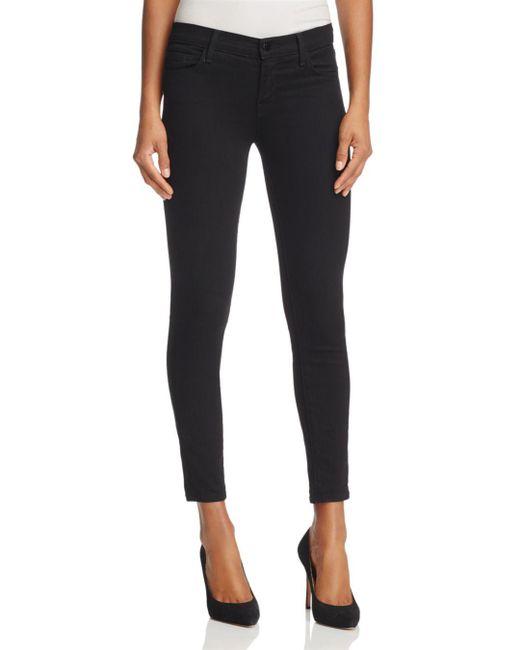 J Brand - Black Crop Skinny Jeans In Vanity - Lyst