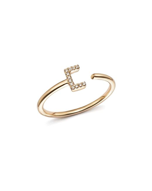 Dana Rebecca - Metallic Diamond Initial Ring In 14k Yellow Gold - Lyst