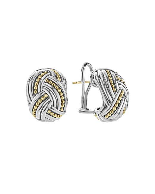 Lagos - Metallic 18k Gold & Sterling Silver Torsade Huggie Hoop Earrings - Lyst