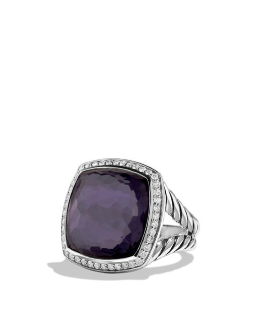 David Yurman - Metallic Albion Ring With Black Orchid And Diamonds - Lyst