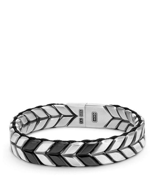 David Yurman - Metallic Chevron Woven Bracelet - Lyst
