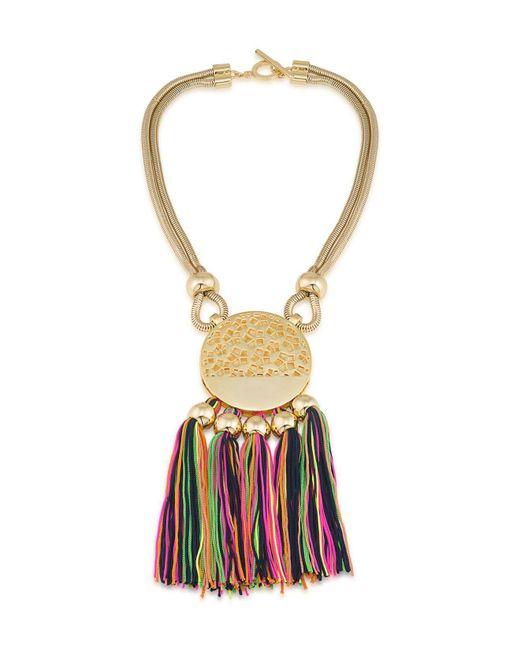 Trina Turk - Metallic Mojito Nights Tasseled Pendant Necklace - Lyst