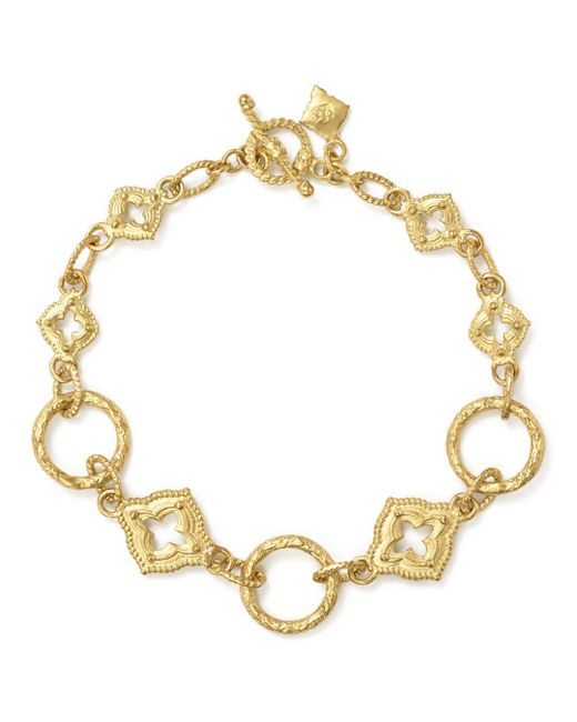 Armenta - Metallic 18k Yellow Gold Sueno Sculpted Circle Link Bracelet - Lyst
