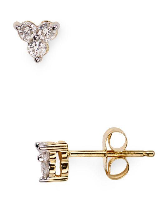 Adina Reyter - Metallic Diamond Cluster Stud Earrings - Lyst