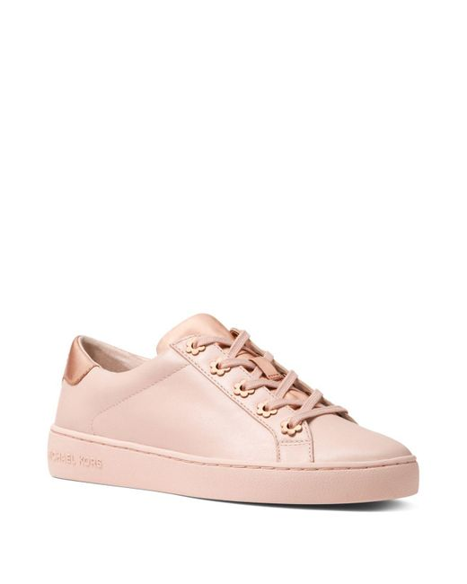 MICHAEL Michael Kors - Pink Women's Irving Leather Lace Up Sneakers - Lyst