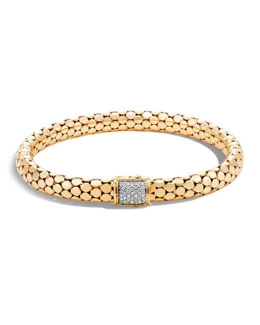 John Hardy - Metallic 18k Yellow Gold Dot Small Chain Bracelet With Diamonds - Lyst