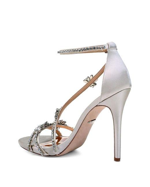 Badgley Mischka Women's Hodge Embellished Satin Strappy High-Heel Sandals 1aojeYVyHj