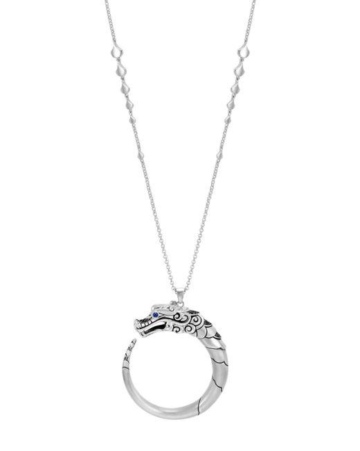 John Hardy - Metallic Legends Naga Black & Blue Sapphire Pendant Necklace - Lyst