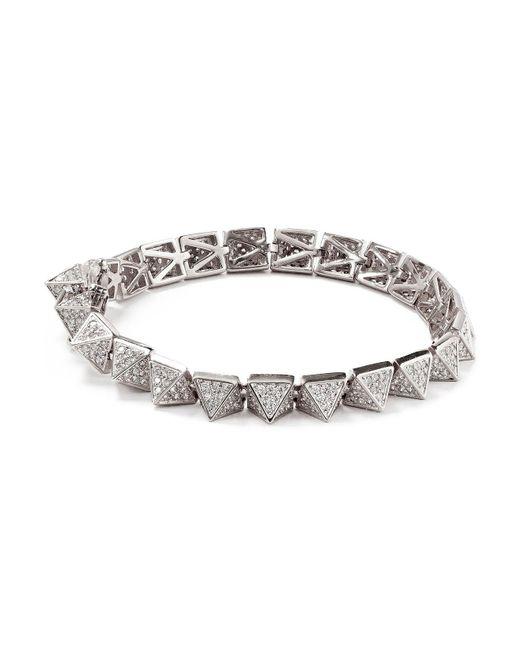 Eddie Borgo - Metallic Pavé Pyramid Bracelet - Lyst