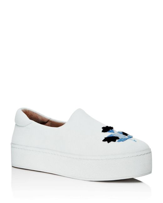 Opening Ceremony - White Embroidered Platform Slip-on Sneakers - Lyst