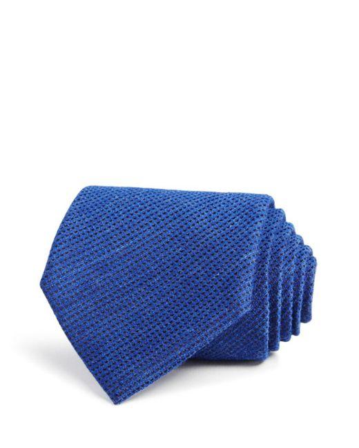 John Varvatos - Blue Textured Solid Classic Tie for Men - Lyst