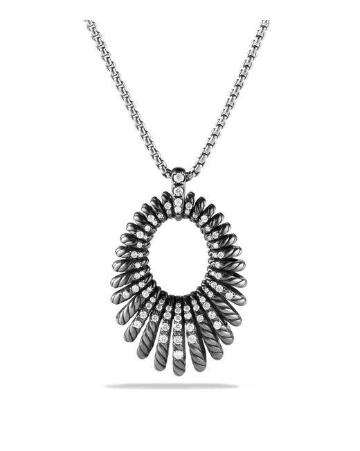 David Yurman | Metallic Tempo Necklace With Diamonds | Lyst