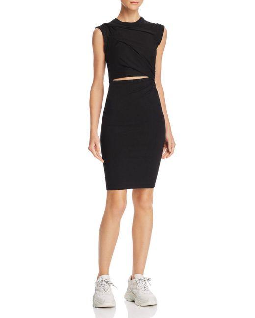 T By Alexander Wang - Black Cutout Jersey Dress - Lyst