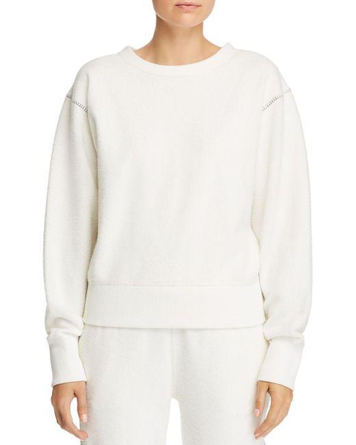 Rag & Bone - White Brushed Inside-out Sweatshirt - Lyst