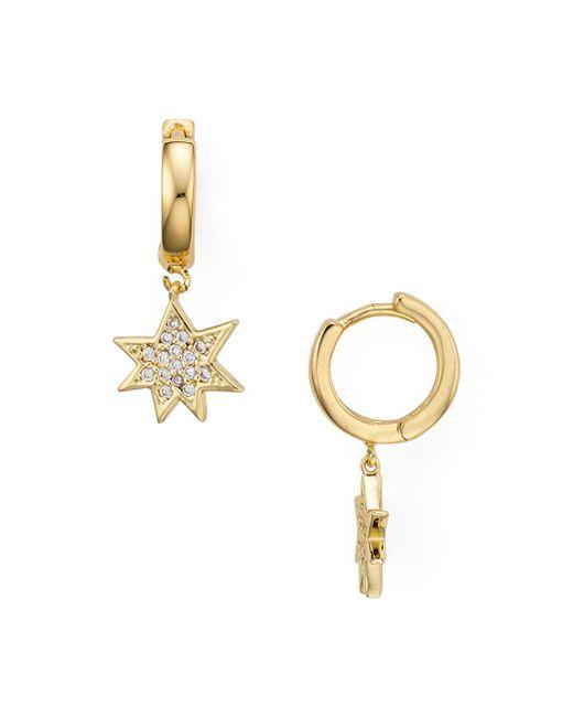Rebecca Minkoff | Metallic Star Huggie Hoop Earrings | Lyst