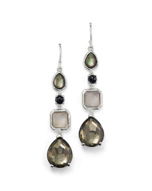 Ippolita - Multicolor Sterling Silver Rock Candy® 4 Stone Linear Earrings In Black Tie - Lyst
