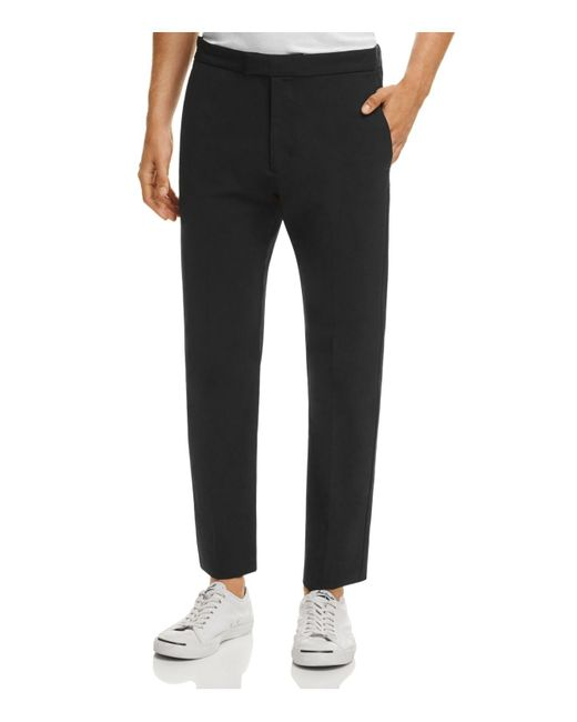 Theory | Black Tech Slim Fit Ankle Pants for Men | Lyst