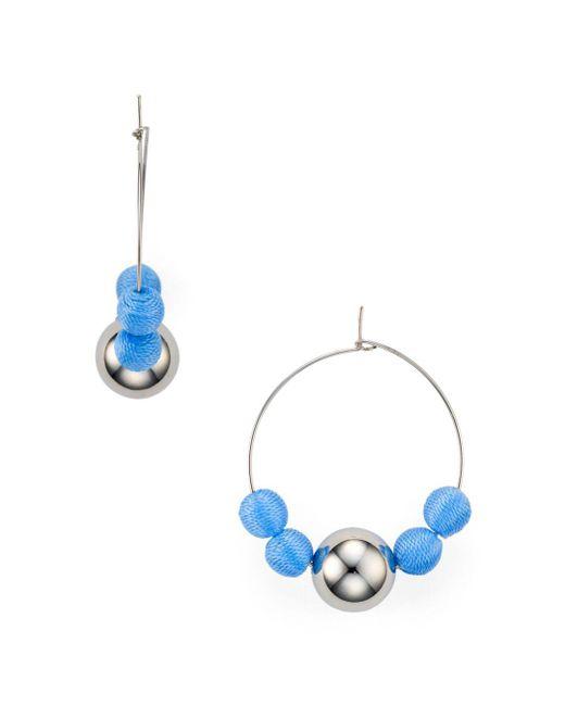 Rebecca Minkoff - Metallic Matte Ball Hoop Earrings - Lyst