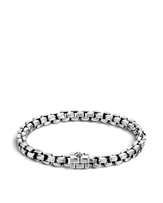 John Hardy - Metallic Men's Silver Square Link Bracelet for Men - Lyst