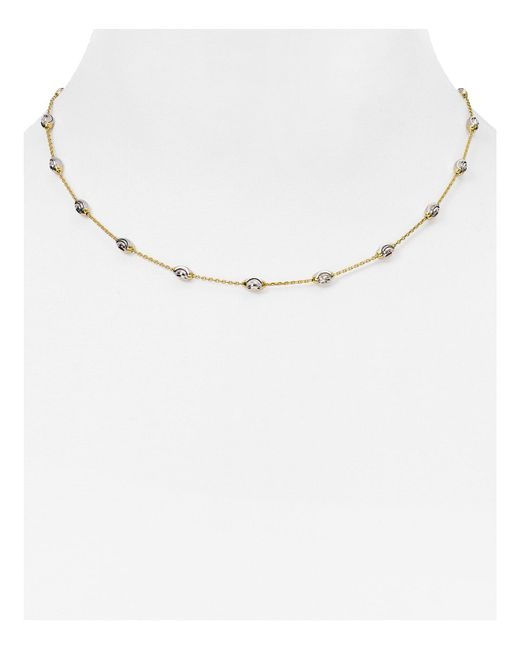 "Officina Bernardi | Metallic Beaded Necklace, 16"" | Lyst"