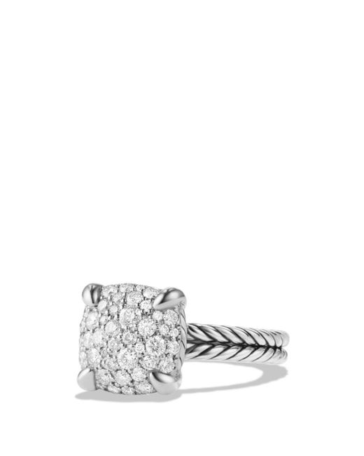 David Yurman - Metallic Châtelaine Ring With Diamonds In Sterling Silver - Lyst