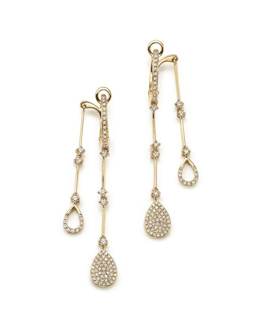 KC Designs - 14k Yellow Gold Diamond Micro Pavé Front-back Drop Earrings - Lyst