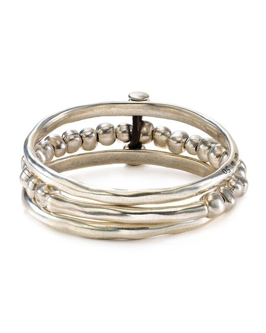 Uno De 50 - Metallic Another Round Bangle - Lyst