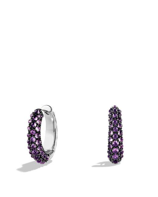 David Yurman | Purple Osetra Hoop Earrings With Amethyst | Lyst