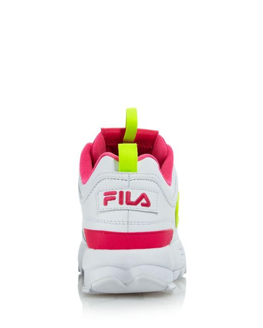 515cc5f24424 ... Lyst Fila - Pink Women s Disruptor 2 Premium Lace-up Sneakers ...