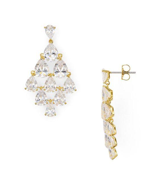 Nadri - Metallic Cubic Zirconia Drop Chandelier Earrings - Lyst