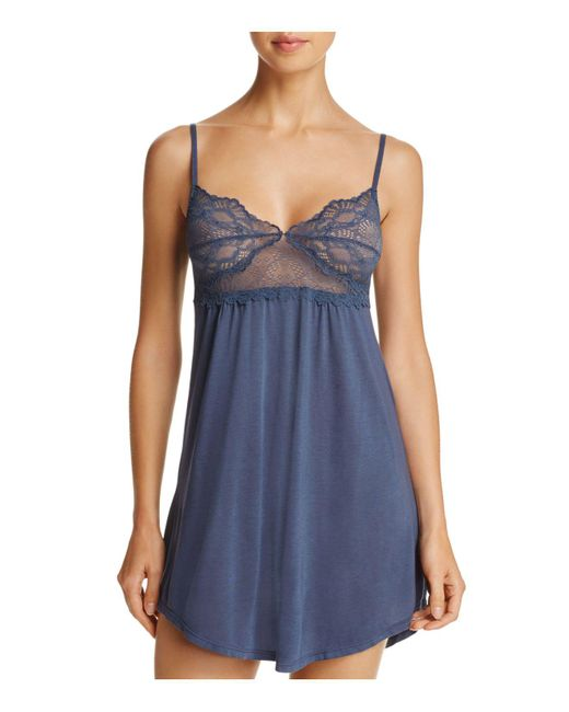 Only Hearts - Blue Venice Lace Cup Chemise - Lyst