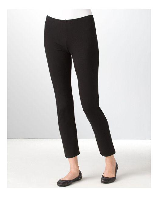 Eileen Fisher | Black ' Stretch Organic Cotton Leggings | Lyst