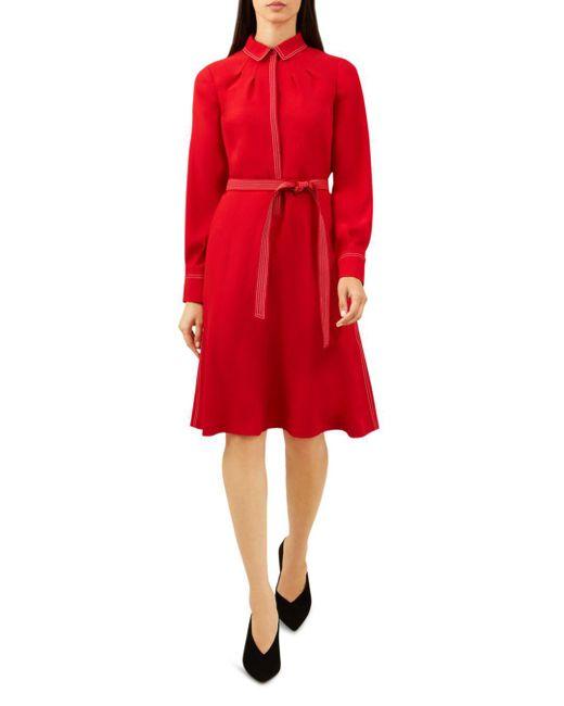 Hobbs - Red Nancy Shirt Dress - Lyst