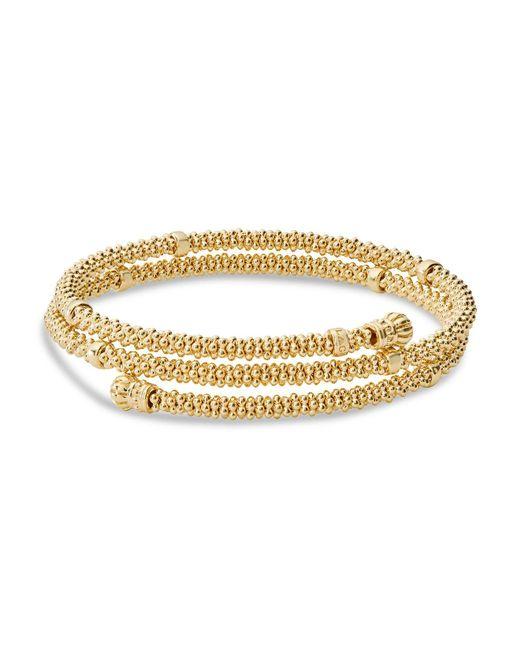 Lagos - Metallic Caviar Gold Collection 18k Gold Coil Bracelet - Lyst