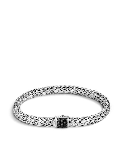 John Hardy | Metallic Classic Chain Sterling Silver Lava Small Bracelet With Black Sapphire | Lyst